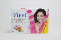 """Крем мыло с маслам фруктов авакадо, граната, папайя """"Vivel Mixed Fruit+Cream Soap"""" , 100 грамм."""