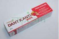 "Зубная паста аюрведическая  ""Dant Kanti Fresh Active Gel toothpaste"" , 80 грамм, Patanjali."