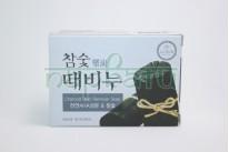"""Мыло отшелушивающее мыло """"DONGBANG"""" для лица и тела , с экстратами древесного угля, 100 гр. Корея"""