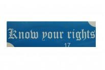 """""""Знай свои права"""" (англ.) (5*15 см)"""