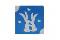 Два зайчонка ( 6*6 см )