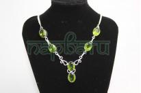 Ожерелье №5 Стерлинговое серебро 925 проба..Вес 18 грамм.Камень зеленый цитрин