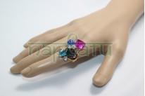 Кольцо Индийский перстень с камнями..Размер 7
