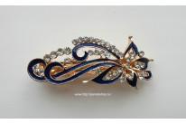"""Индийская заколка автомат """"Звездная бабочка"""".Цвет синий.Прочно держит волосы,Легкая и крепкая.Длина 9 см."""